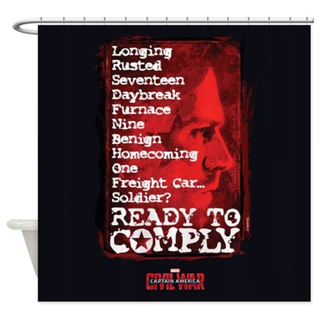 Winter Soldier Trigger Words Shower Curtain by ...