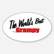 """""""The World's Best Grampy"""" Oval Decal"""