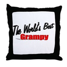 """The World's Best Grampy"" Throw Pillow"