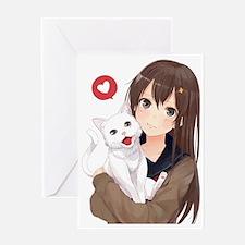 Cool Anime Greeting Card
