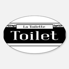 New Orleans Toilet Sign Decal