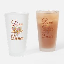 Live Love Personalize Drinking Glass