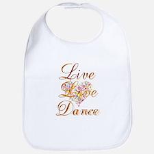 Live Love Personalize Bib
