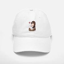 Anime Girl Holding Her Cat Baseball Baseball Cap