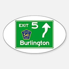 NJTP Logo-free Exit 5 Burlington Decal