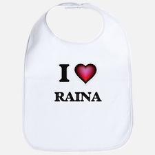 I Love Raina Bib