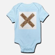Rail Crossing Wooden Sign Body Suit