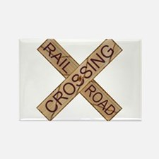 Rail Crossing Wooden Sign Magnets