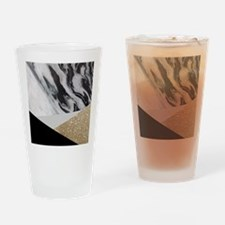 Cute Black and gold Drinking Glass