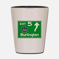 NJTP Logo-free Exit 5 Burlington Shot Glass