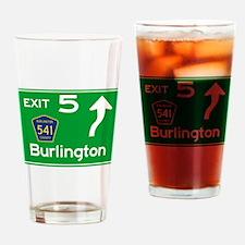 NJTP Logo-free Exit 5 Burlington Drinking Glass