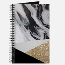 contemporary gold glitter marble Journal