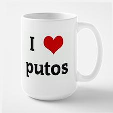 I Love putos Mugs