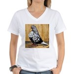 Black Teager Flight Women's V-Neck T-Shirt