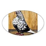 Black Teager Flight Oval Sticker