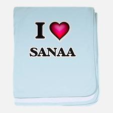 I Love Sanaa baby blanket