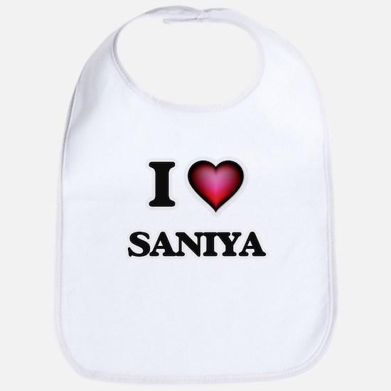 I Love Saniya Bib
