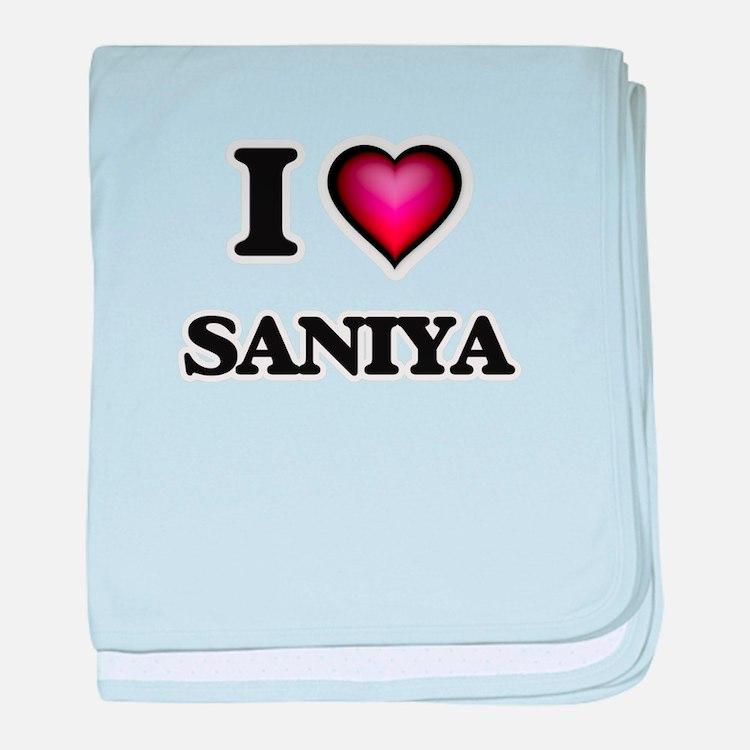 I Love Saniya baby blanket
