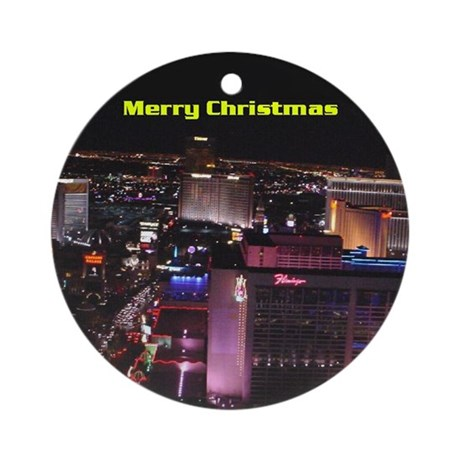 Las Vegas Merry Christmas Ornament (Round)