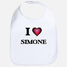 I Love Simone Bib