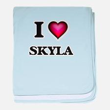 I Love Skyla baby blanket