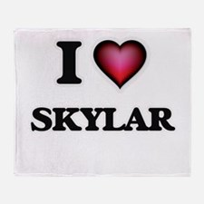 I Love Skylar Throw Blanket