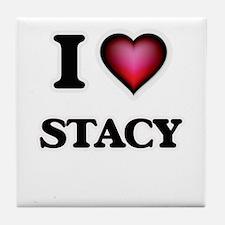 I Love Stacy Tile Coaster