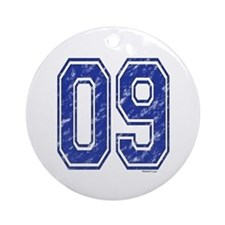 09 Jersey Year Ornament (Round)