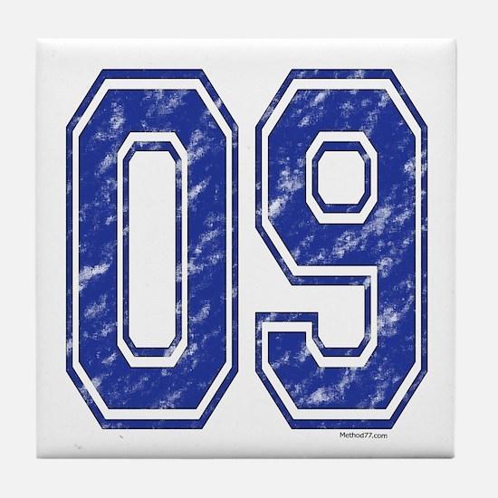 09 Jersey Year Tile Coaster
