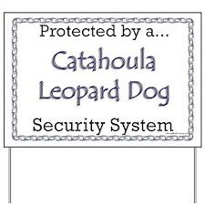 Catahoula Security Yard Sign