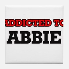 Addicted to Abbie Tile Coaster