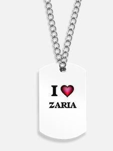 I Love Zaria Dog Tags