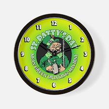 St. Patty's Day Wall Clock