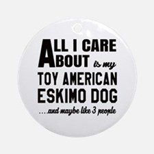 All I care about is my Toy American Round Ornament