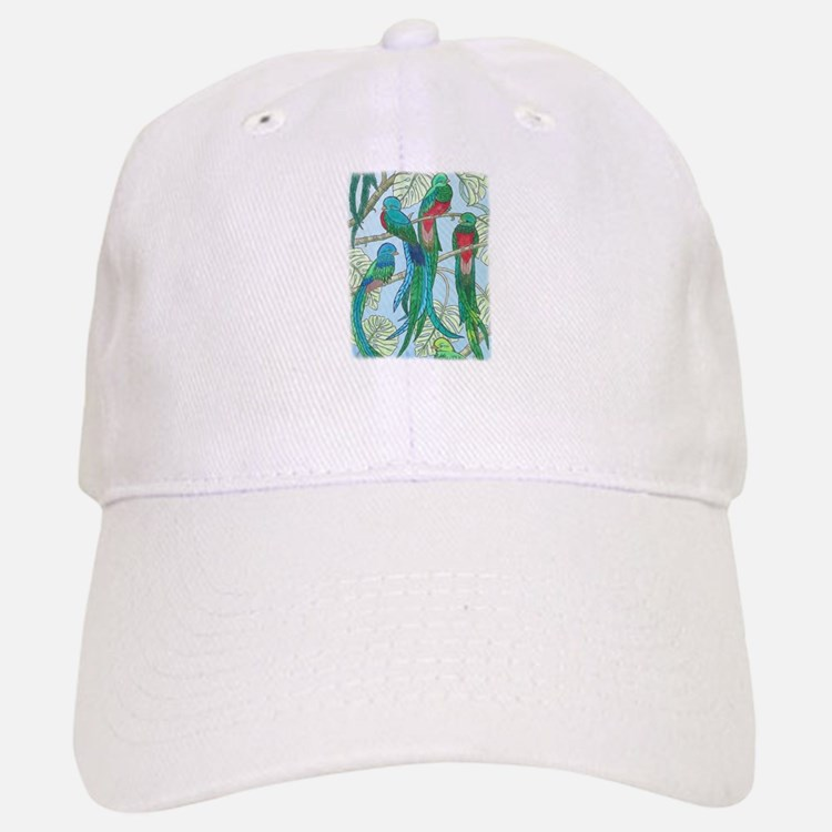 Quetzal Birds Watercolor Baseball Baseball Cap