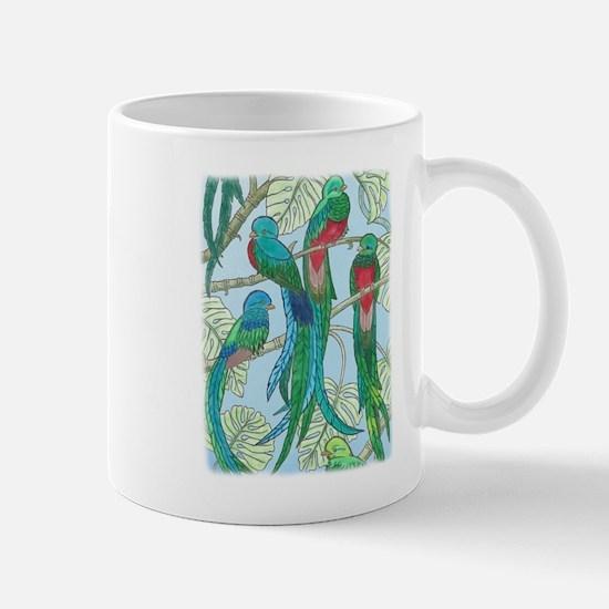 Quetzal Birds Watercolor Mugs