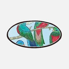 Quetzal Birds Watercolor Patch