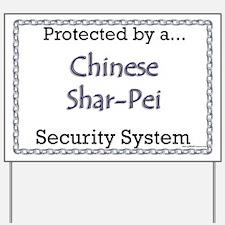 Shar Pei Security Yard Sign
