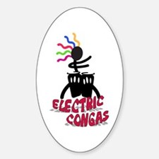 Electric Congas Oval Decal