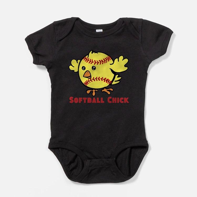 Cute Sports fastpitch softball Baby Bodysuit