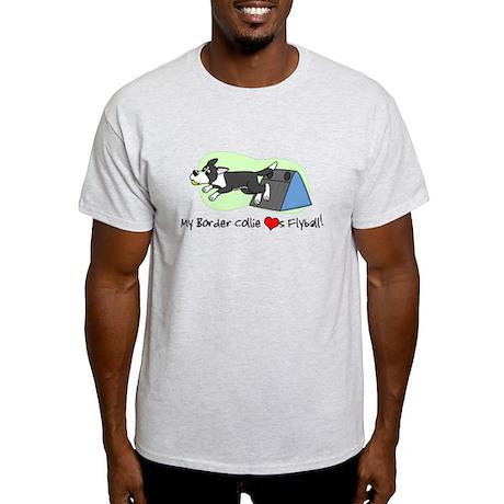 Border Collie Flyball Light T-Shirt
