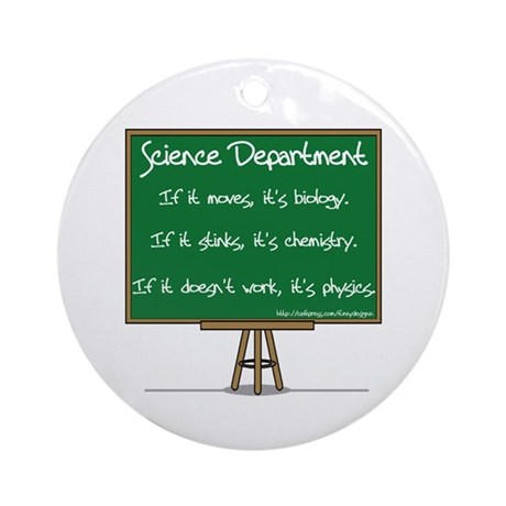 Science Dept Ornament (Round)