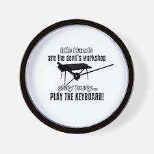 Stay Busy Play The Keyborad Wall Clock