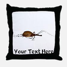 Brown Bug (Custom) Throw Pillow