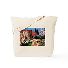Dog Garden Tote Bag