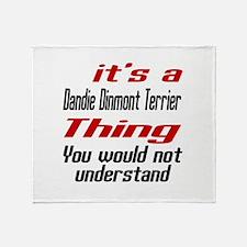 It' s Dandie Dinmont Terrier Dog Thi Throw Blanket