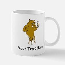 Boar Drinking Beer (Custom) Mugs