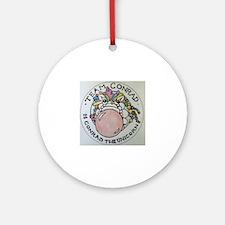 Cute Conrad Round Ornament