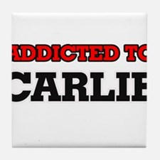 Addicted to Carlie Tile Coaster