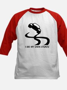 Race Car, I Do My Own Stunts Kids Baseball Jersey